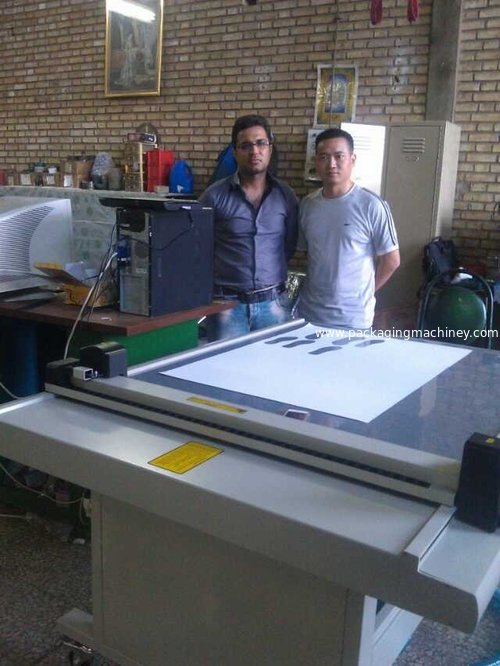 CUTCNC shoes paper pattern cutting table installing in Iran
