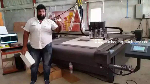 AOKE DCZ76 series cutting table install in Sri Lanka biggest advertising company
