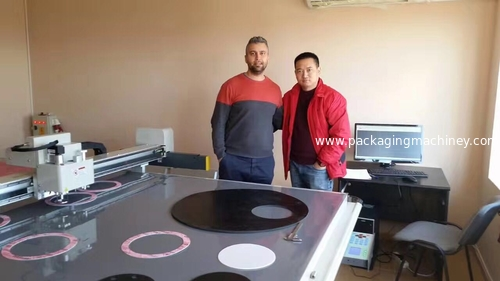 DCZ702516 gasket cutting machine install in Bulgaria