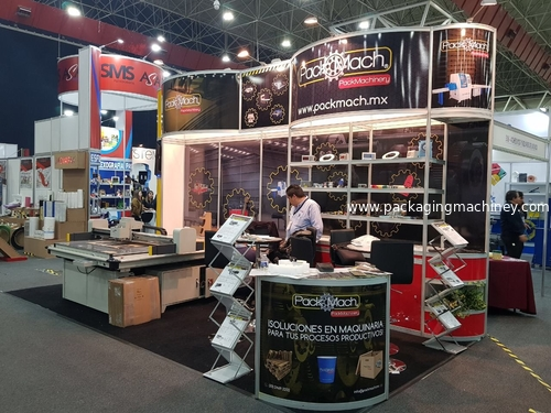 AOKE DCZ70 cutting machine attend Mexico Expo empaque norte  On Monterrey