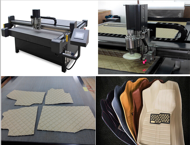 Car floor mat cnc cutting table