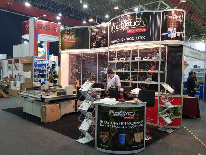 AOKE DCZ70 cutting machine on Mexico exhibition