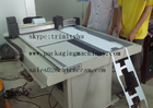 China roll material paper sticker hanging cutting small production making machine factory